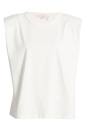 Endless Rose Padded Shoulder T-Shirt | Nordstrom