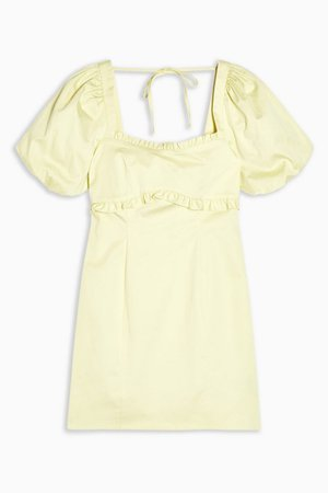 Yellow Poplin Tea Dress | Topshop