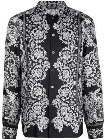 Black & white Dolce & Gabbana printed pyjama shirt - Farfetch