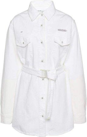 Off White C/O Virgil Abloh Cotton Mini Shirt Dress