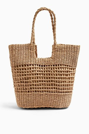 RIO Natural Plaited Handle Tote Bag | Topshop