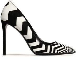 Printed Leather Pumps