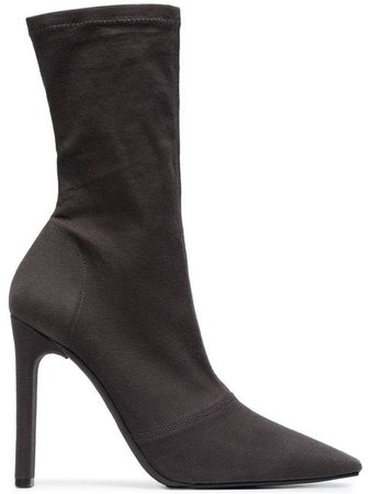 Yeezy Graphite 105 Stretch Canvas Ankle Boots KW5266091 | Farfetch