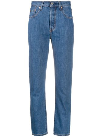 Shop Levi's 501 cropped jeans with Express Delivery - FARFETCH