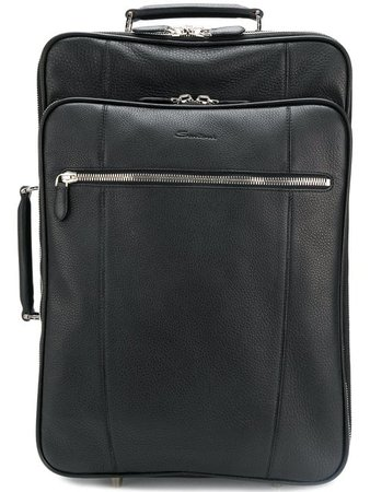 Santoni pebbled suitcase $2,234 - Buy AW18 Online - Fast Global Delivery, Price