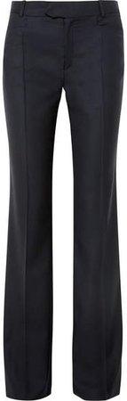 Rocker Super 100 Wool-twill Wide-leg Pants - Navy