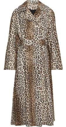 Jill Belted Cotton-blend Faux Fur Coat