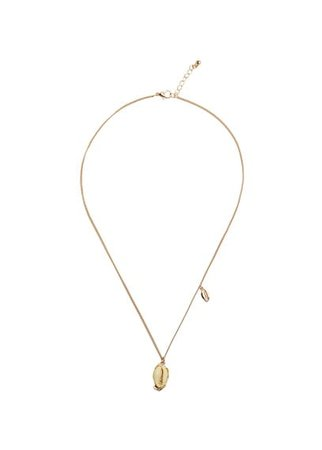 MANGO Shell pendant necklace