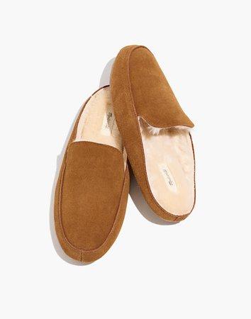 The Loafer Scuff Slipper in Suede brown