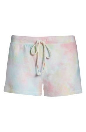 PJ Salvage Tie Dye Lounge Shorts | Nordstrom