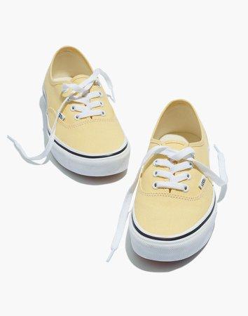 Vans Unisex Authentic Lace-Up Sneakers in Golden Haze Canvas
