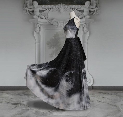 MAXI Ombre moon dress boarding school gothic doll phases   Etsy