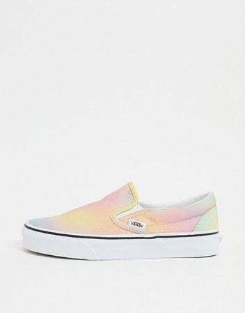 Vans Classic Slip-On Tie Dye sneaker in multi | ASOS