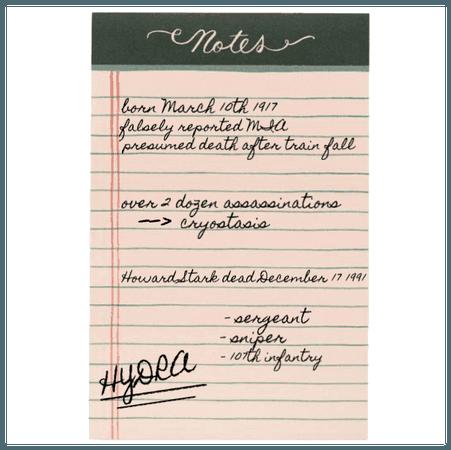 bucky barnes notepad