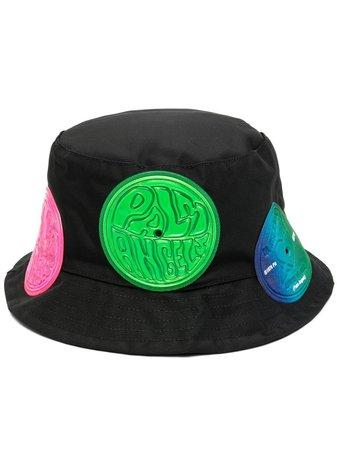 Palm Angels patch-embellished bucket hat black PMLA015S21FAB0011084 - Farfetch
