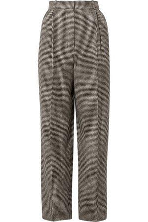 The Row | Nica houndstooth camel hair straight-leg pants | NET-A-PORTER.COM
