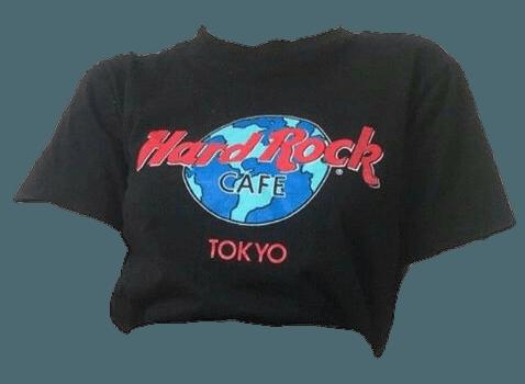 aesthetic png polyvore tshirt hardrockcafé black...