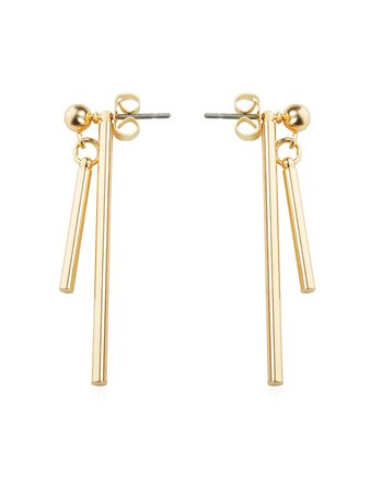Bar Design Detachable Drop Earrings