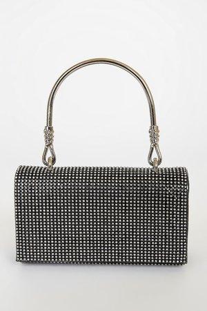 Black Rhinestone Purse - Mini Handbag - Handheld Bag - Lulus