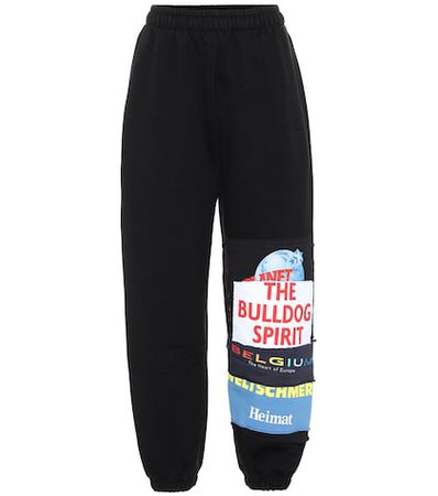 Printed cotton-blend trackpants
