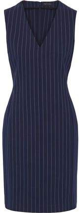 Leki Grosgrain-trimmed Pinstriped Stretch-cotton Dress