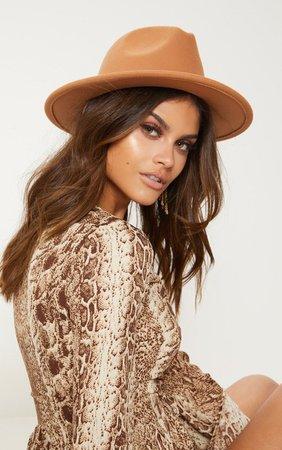 Leopard Faux Fur Reversible Bucket Hat | PrettyLittleThing USA
