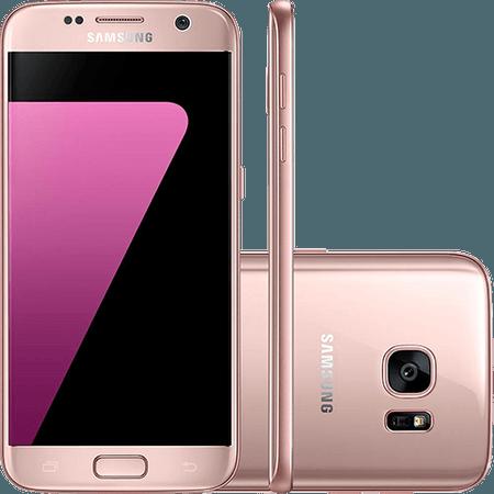 "Smartphone Samsung Galaxy S7 Android 6.0 Tela 5.1"" 32GB Wi-Fi 4G Câmera 12MP - Rosé nas Lojas Americanas.com"