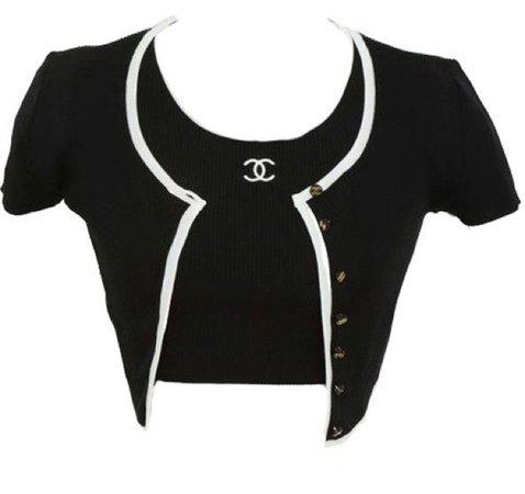 Chanel short sleeve sweater