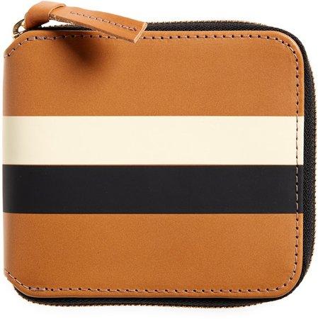 Leather Half Zip Wallet