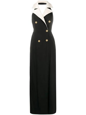 Elisabetta Franchi tuxedo gown
