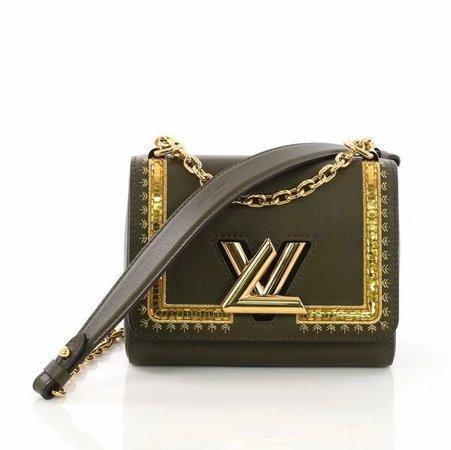 Louis Vuitton Twist Pm Olive Green Leather Shoulder Bag