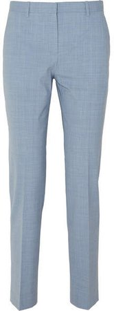 Stretch-wool Pants - Light blue