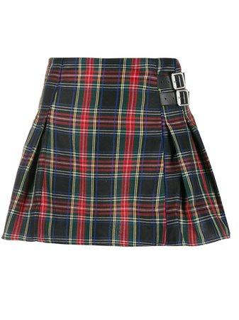 Danielle Guizio Plaid-Print Pleated Mini Skirt | Farfetch.com