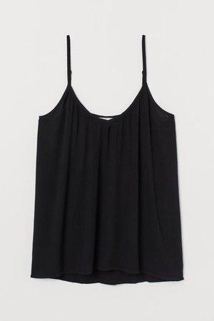 Crinkled Tank Top - Black - | H&M US