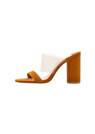 Violeta BY MANGO Vinyl straps sandals