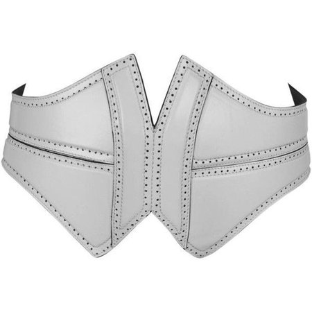 alaia white corset belt