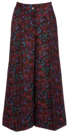 La DoubleJ Printed Wool-Blend Culotte Pants