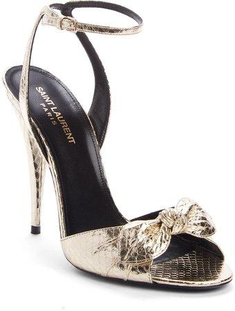 Tot Snake Embossed Ankle Strap Sandal