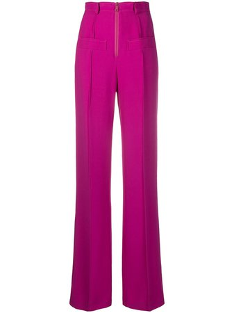 Nº21 high waist tailored trousers pink 20IN2M0B0915336 - Farfetch