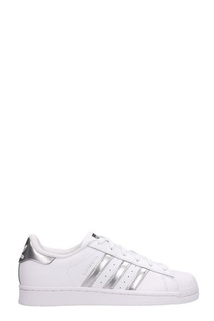 Adidas Superstar Sneakers In White Leather