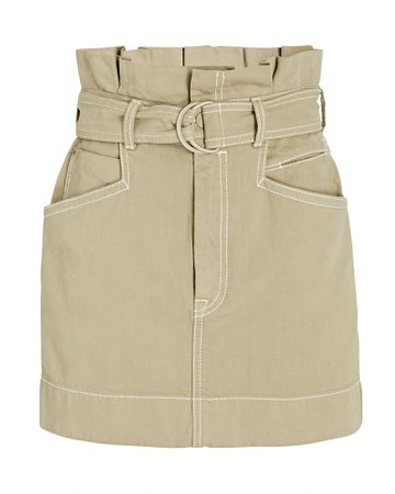 Zimmermann Utility Belted Denim Mini Skirt | INTERMIX®