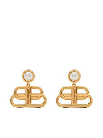 Shop Balenciaga BB drop earrings with Express Delivery - FARFETCH