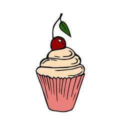Cherry splash logo icon Royalty Free Vector Image