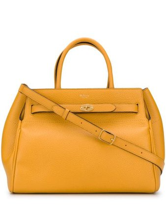 Yellow Mulberry Bayswater logo tote bag HH6328736N651 - Farfetch