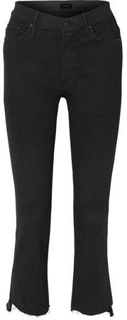 The Insider Crop High-rise Flared Jeans - Black