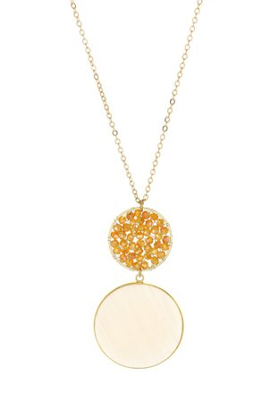 Panacea Agate & Crystal Circle Pendant Necklace | Nordstrom