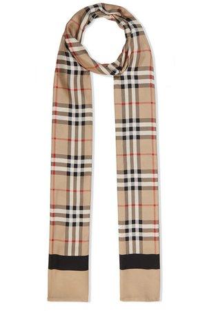 Burberry | Printed silk-twill scarf | NET-A-PORTER.COM