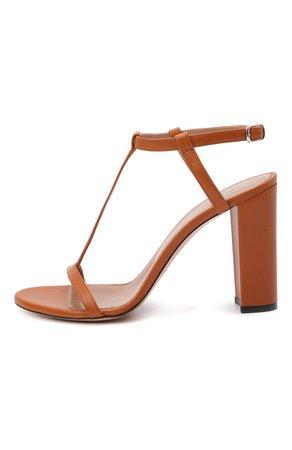 Женские коричневые кожаные босоножки KITON — купить за 86950 руб. в интернет-магазине ЦУМ, арт. D51810X08S71
