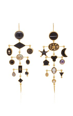 Grainne Morton Multilayer Victorian Drop Earrings