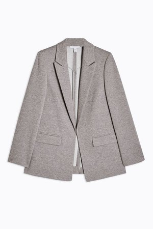 Gray Jersey Double Breasted Blazer | Topshop